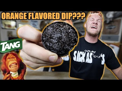 Trying Orange Dip! TASTES LIKE TANG!!!