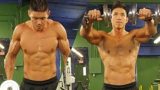 Home shoulder workout for a V-TAPER body