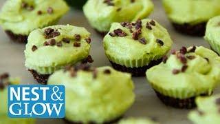 FAST Chocolate Avocado Lime Cheesecakes - Raw Vegan + Healthy