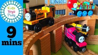 Toy Train Videos For Children | Thomas Wooden Play Table | Thomas And Friends Wooden Railway