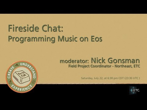 CUE 2017 - Fireside Chat: Programming Music on Eos