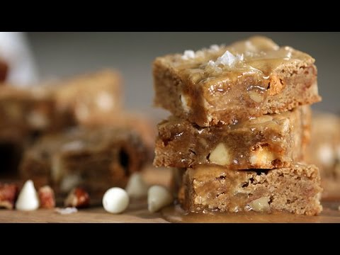 Maple Butterscotch Blondies Recipe | Get the Dish - YouTube