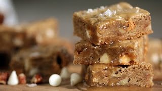Maple Butterscotch Blondies Recipe | Get The Dish