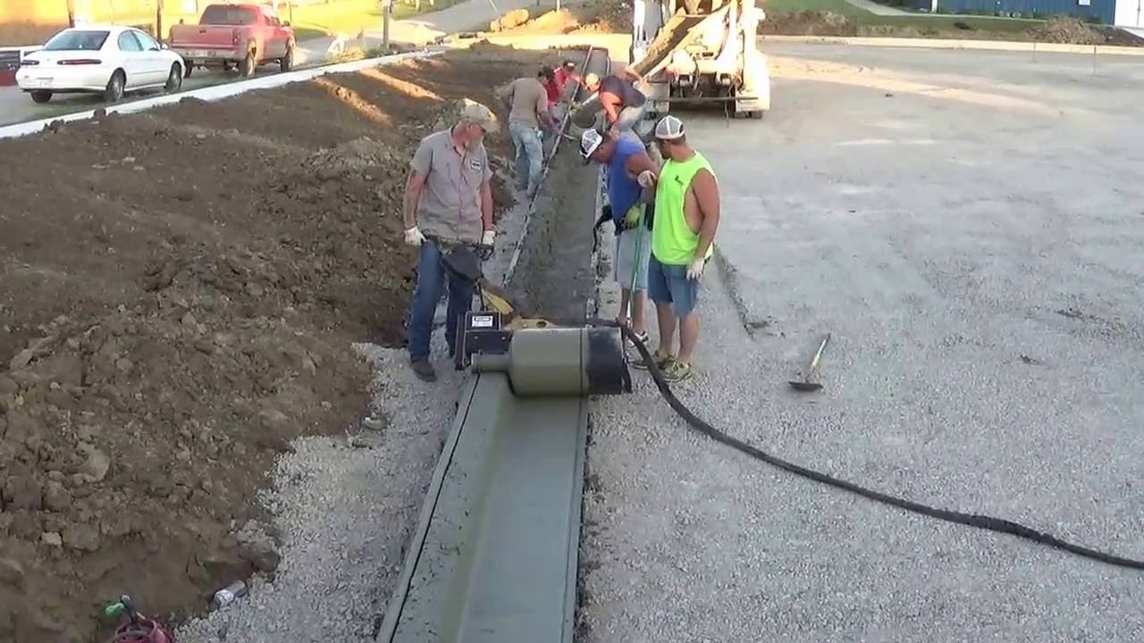 Curb Roller Demonstration With First Time Operators Youtube
