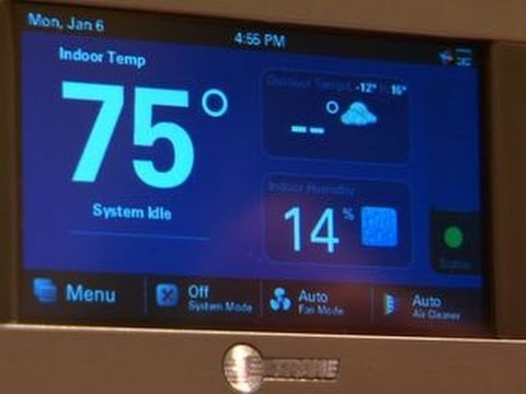 Trane Controls The Room With The XL824 Thermostat At CES 2014