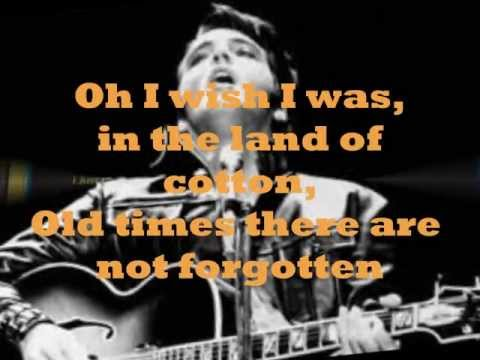 ELVIS PRESLEY - AN AMERICAN TRILOGY ( LYRICS ) VINYL 1974