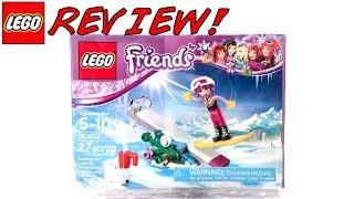 LEGO 30402 Snowboard Tricks Review! LEGO Friends 2017 Set!