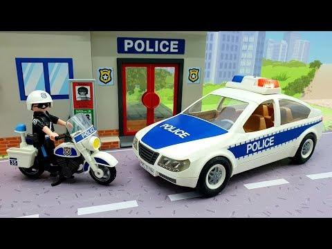 Видео про полицейские машины - Побег.