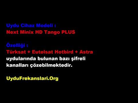 Next Minix HD Tango PLUS  Türksat 42.0°E Kanal Tarama (2016)