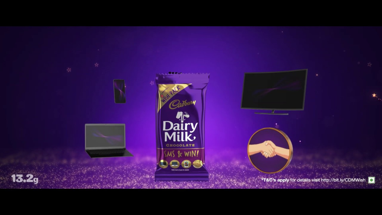 Cadbury Wish to Win LED TVs, laptops and smartphones everyday | Free