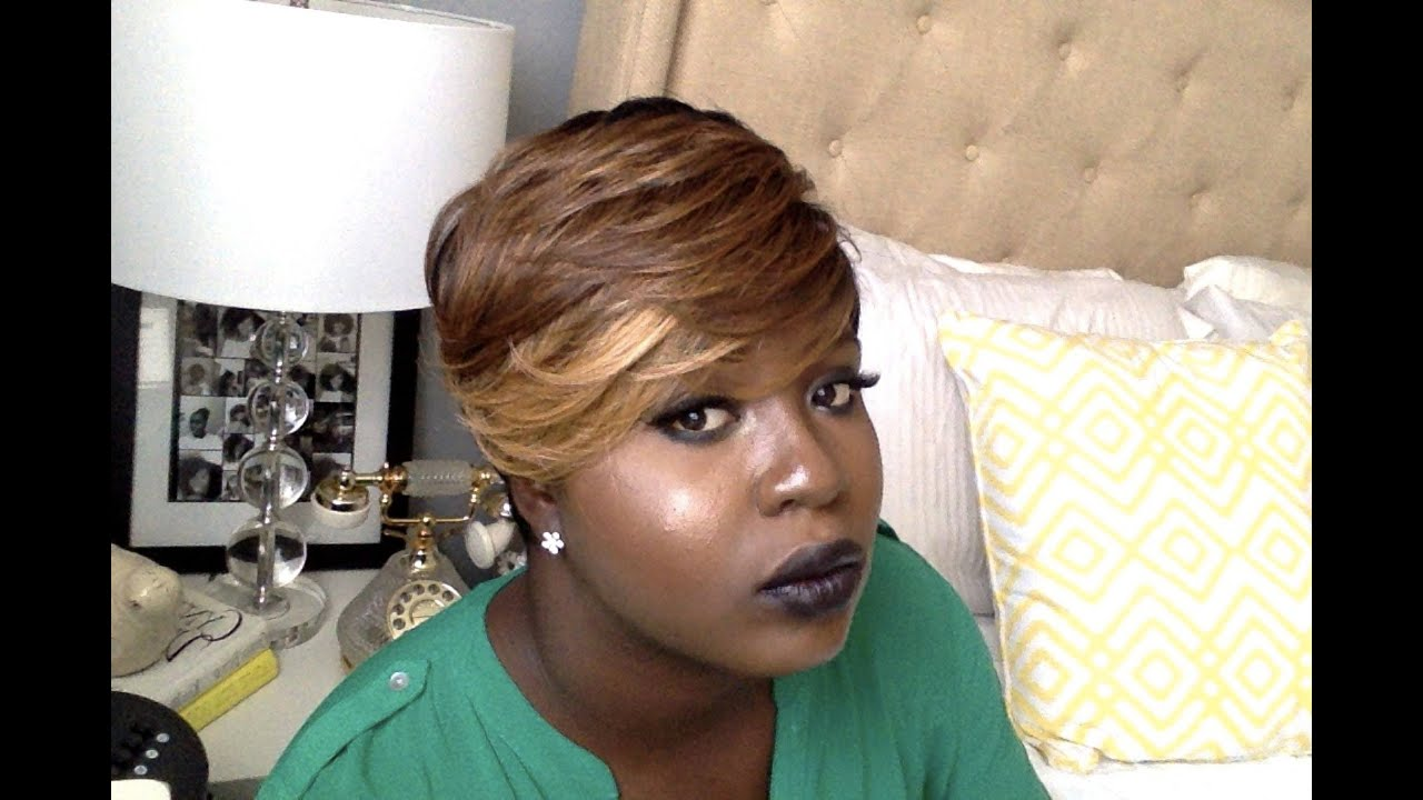 How I Style My Short Ombre Wig By Freestress Equal Wig
