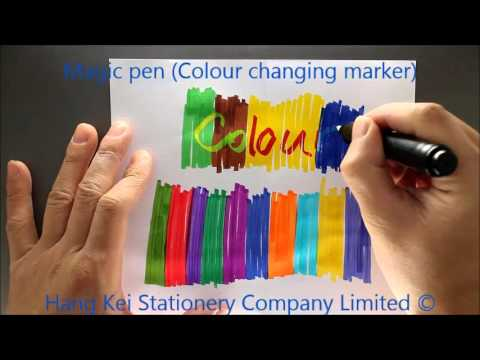 magic marker colour changing marker youtube
