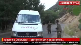 Tunceli'de Öldürülen 4 Teröristten Biri Yol Keserken Görüntülenmiş