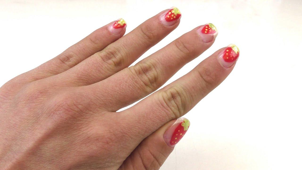 Nageldesign Erdbeere - Nageldesign für den Sommer selber machen ...
