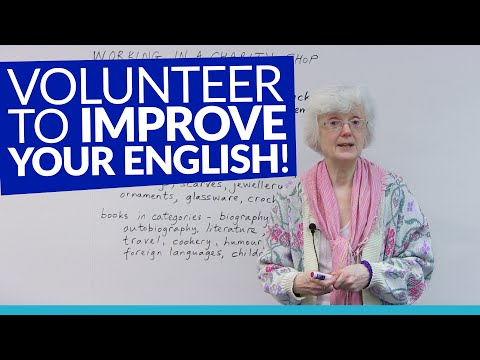 Improve your English by working in a charity shop