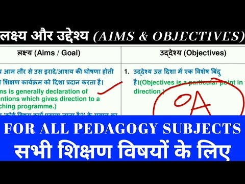 Difference between AIMS & OBJECTIVES /PEDAGOGY SUBJECT