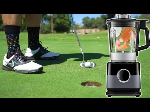 Loser Drinks A Gross Smoothie!! | Golf Day Bet.