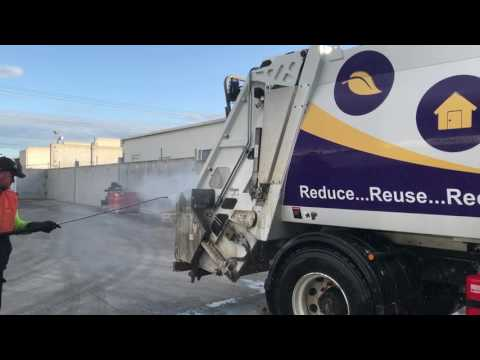 How to EASY WASH truck, garbage truck in 9 min with snow foam, touchless