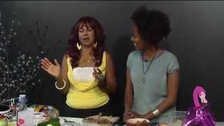 """real Divas Cook""  Ethiopian  Beef,/ Apple Persian Cucumber Salad"