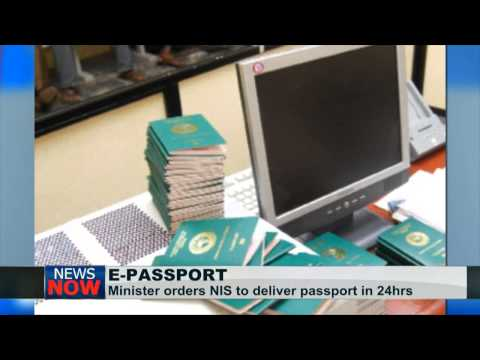 Issue E-Pasport in 24 hours, Minister tells Nigerian Immigration Service