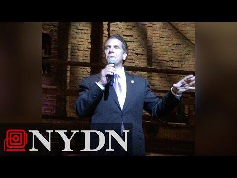 Governor Cuomo Talks Immigration at Hamilton Play