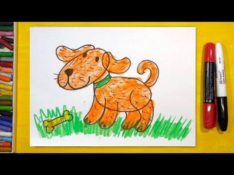 Как рисовать собаку поэтапно для детей 5 лет