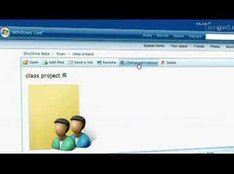 Windows Live SkyDrive - Share With Your Schoolmates