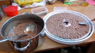 Семья Бровченко. Как сушить мясо, рыбу и т.п. с помощью сушилки.