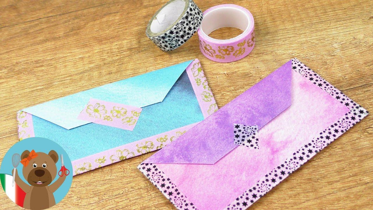 Famoso Creare dolci buste per le lettere | con carta di acquarelli e  UB18