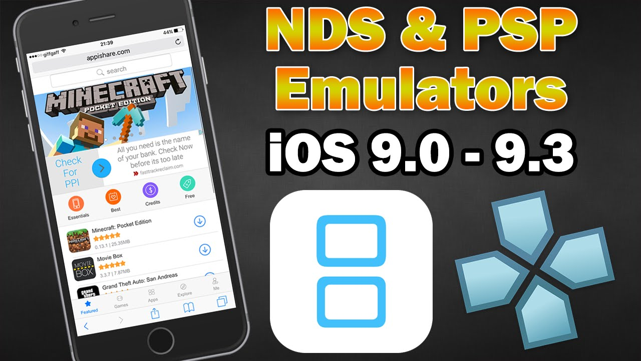 nintendo ds emulator for iphone install nintendo ds amp psp emulators on ios 9 3 9 2 1 no 17864