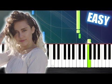 Miley Cyrus Malibu Easy Piano Tutorial By Plutax Youtube