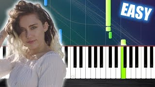 Miley Cyrus - Malibu - EASY Piano Tutorial by PlutaX