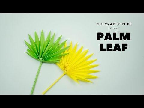 Plam Leaf - How To Make Paper Leaf - Palm Leaf Tutorial - Paper Craft - DIY