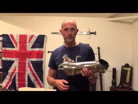 Greaves -  medieval armour being closely fitted