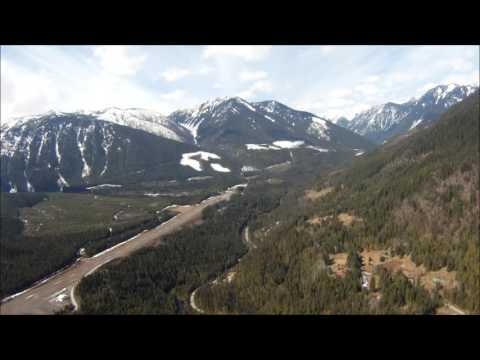 kaslo airport takeoff and approach