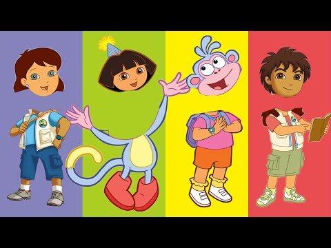 Wrong Heads Dora The Explorer Dora Boots Diego Alice Finger Family Song