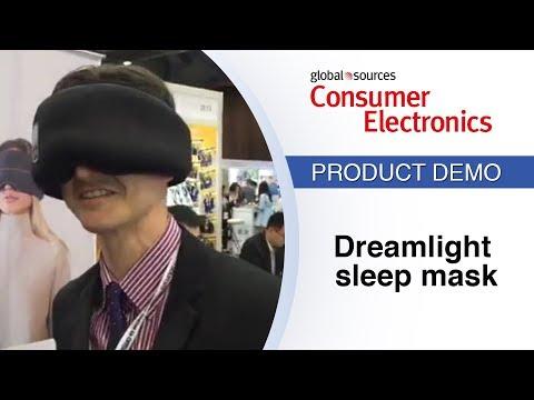 Smart sleep mask emits light, tracks sleep - YouTube