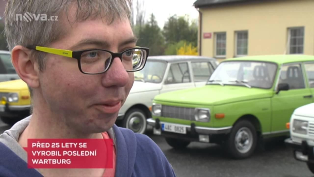 Wartburg slavi výročí 25 let od konce výroby. Reportáž na TV Nova v Televizních novinách.