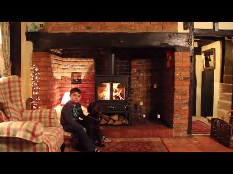 Clearview 650 wood burning stove & Essex inglenook chimney lining