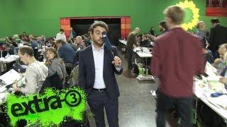 Der kleine Mann beim Parteitag der Grünen