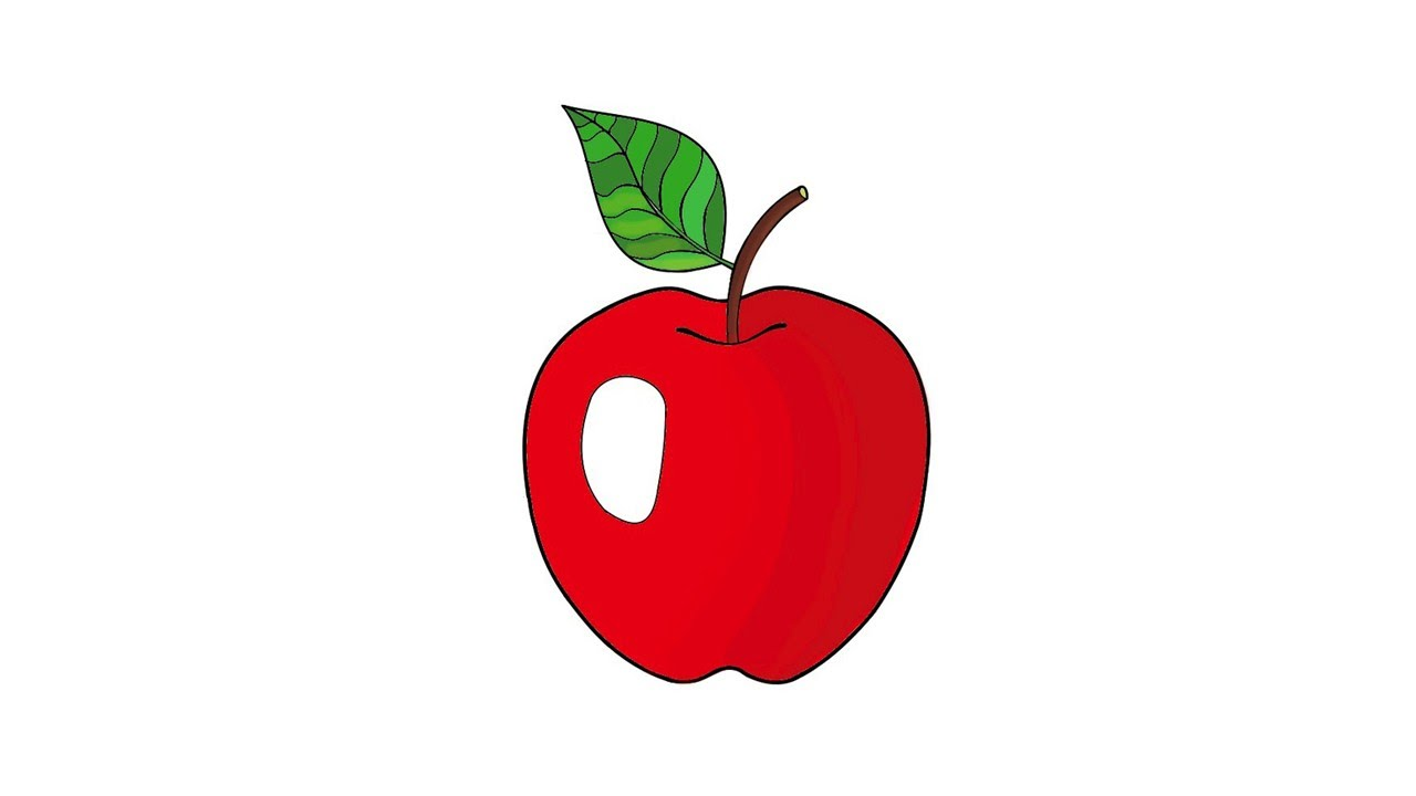 Как нарисовать яблоко своими руками