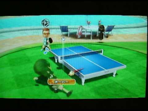 Wii Sports Resort- Michel Jackson table tennis