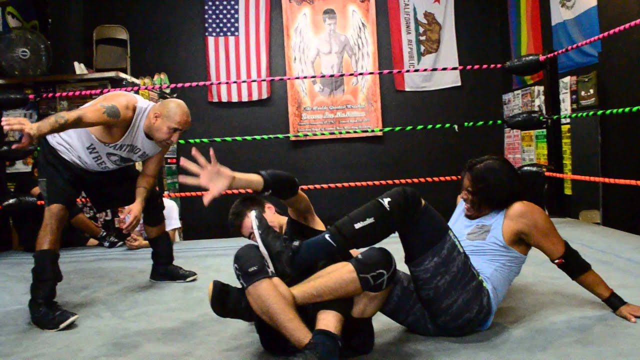 torture rack into a indian death lock santino bros wrestling