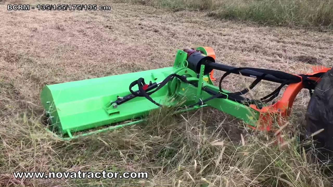Nova Tractor BCRM middle duty ditch bank mower