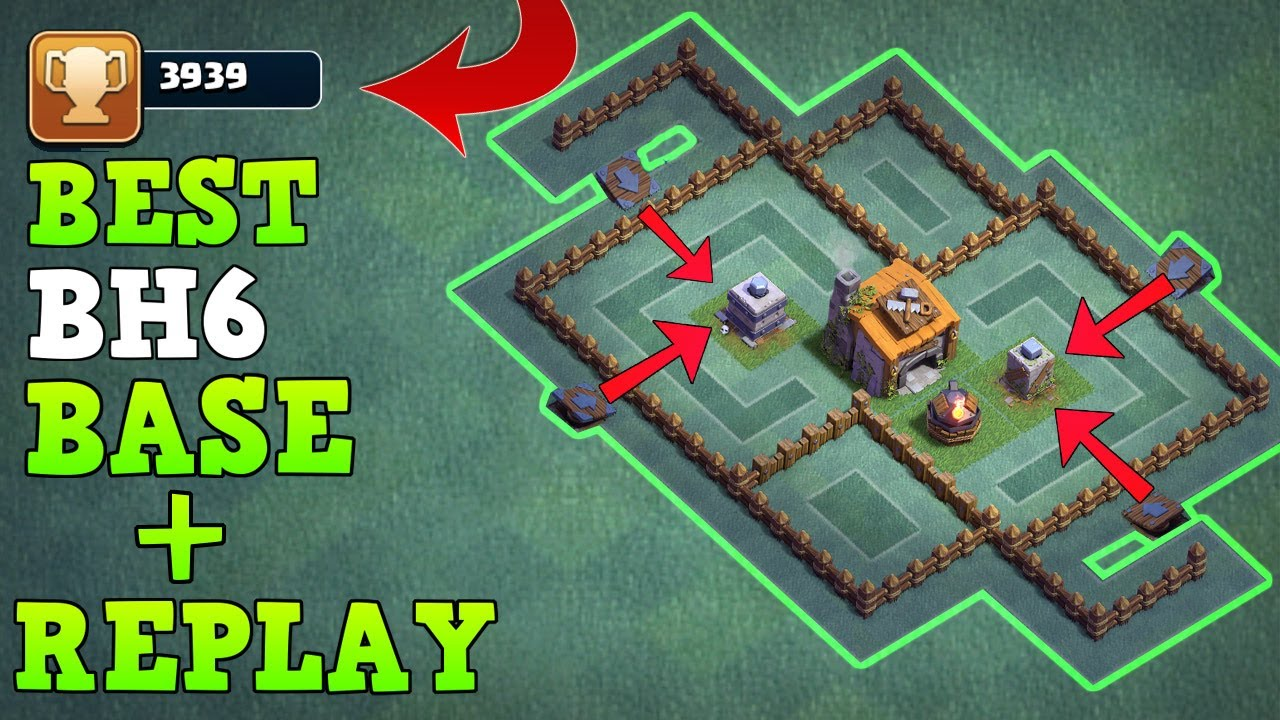 Best Builder Hall 6 Base W Proof Coc New Bh6 Base
