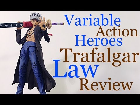 Megahouse Variable Action Heroes VAH One Piece TRAFALGAR LAW Action Figure Review SURGEON OF DEATH