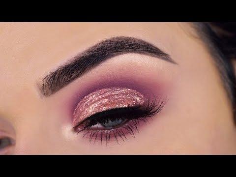 Huda Beauty Nude Palette + Liquid Metal Eyeshadow  Eye Makeup Tutorial