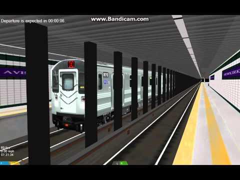 OpenBVE HD EXCLUSIVE: New York City Subway R40 Slant Q Train Railfan