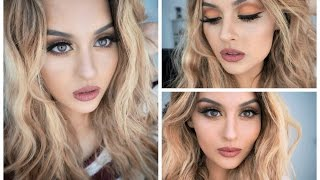 Warm & Cozy Makeup Cut Crease Edition + Kylie Jenner Lip