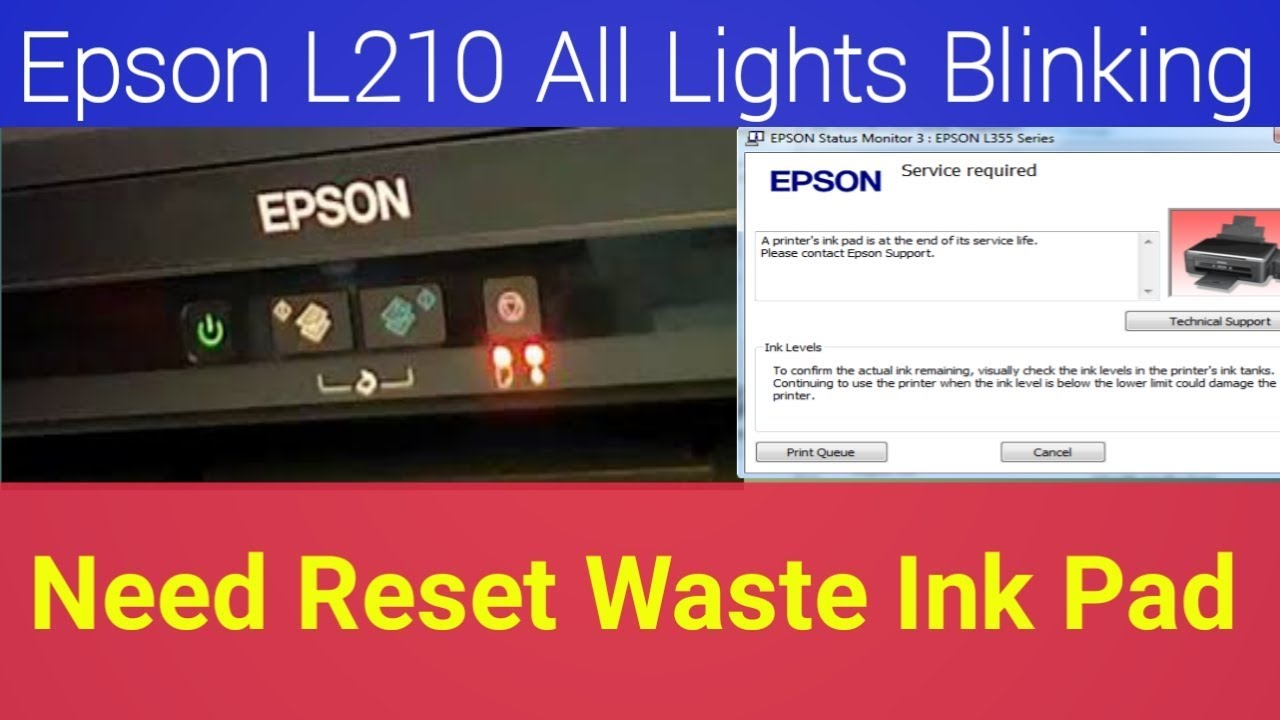 Epson L210 Resetter How To Reset Service Required Youtube